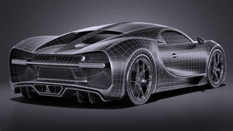 That's why they make use of vehicle parts that are produced using a 3d printer. Bugatti Chiron 2017 3D Model