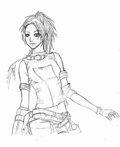 Fantasy Final Coloring Rikku Sketch Pages