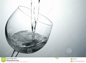 Pouring White Wine Into Glass Stock Photography - Image ...