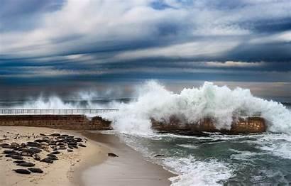 Beach Tide San Diego Meteorological Waves Wave