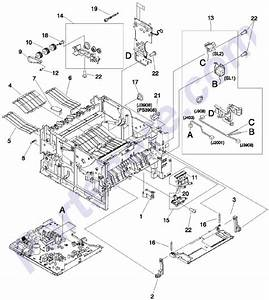 Parts Diagram4 Picture For Hp Laserjet 2300 Series