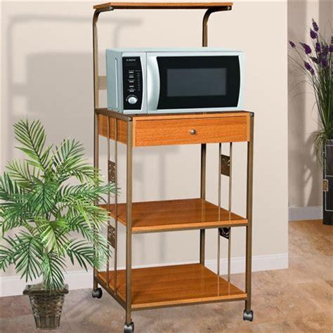 steel  wood kitchen utility microwave cart  cherry