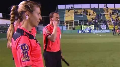 gisela trucco la primera mujer arbitro de la superliga video