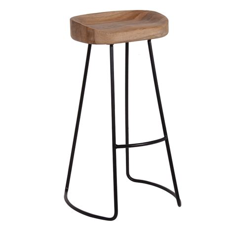 industrial oak bar stool