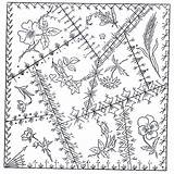 Quilt Crazy Patterns Block Embroidery Pattern Barn Hand Stitches Blocks Quilts Victorian Designs Quilting County Coloring Trail Herbs Schoharie Pillsbury sketch template
