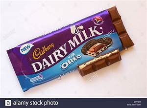Cadbury Dairy Milk with Oreo chocolate bar with piece ...