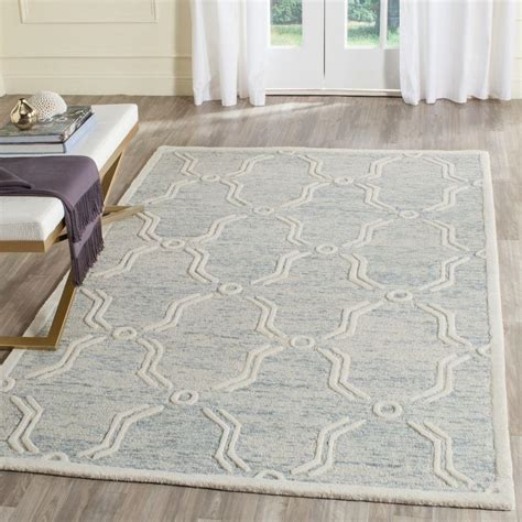safavieh home safavieh cambridge light blue ivory 5 ft x 8 ft area rug