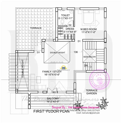 floor plans flat roof house plan and elevation kerala home design