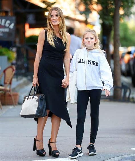 Heidi Klum With Her Daughter Shopping Tribeca