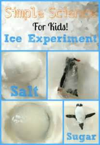 simple ice experiment  child fun