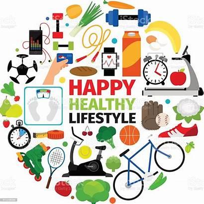 Healthy Lifestyle Round Health Wellness Longer Healthier
