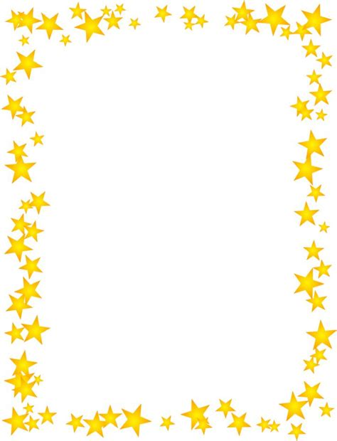 gold stars scattered border school border page