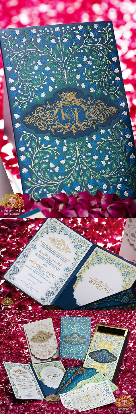Pin by Turmeric Ink on Floral Invites Indian wedding