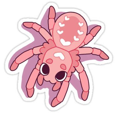 kawaii spiders sticker  mademoisellezim
