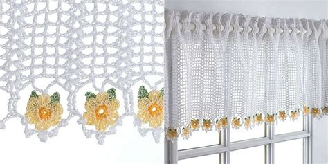 Free Drapery Patterns by Crochet Curtain Valance Free Pattern Shorts