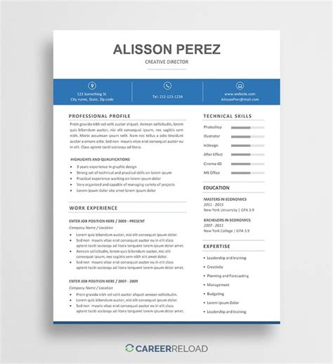 Where To Find Resume Templates by Where Can I Find Some Modern Resume Templates Quora