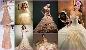 wedding dress of beige color photos of models and colors With wedding dresses beige color