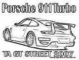 Porsche Coloring Pages Fast Furious 911 Cars Printable Race Gt Drawing Nascar Racing Turbo Gt3 Street Rs Drawings Ta 2007 sketch template