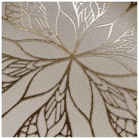 muriva couture floral eve stone  gold metallic foil