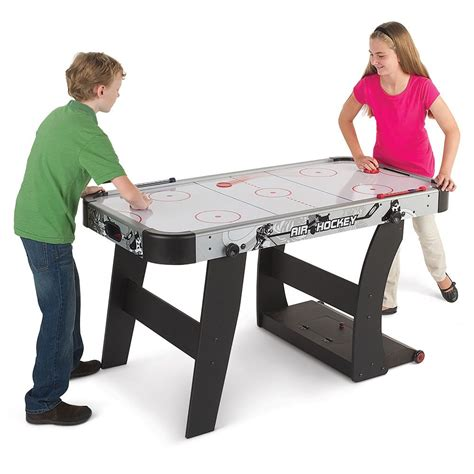 space saving air hockey table hammacher schlemmer