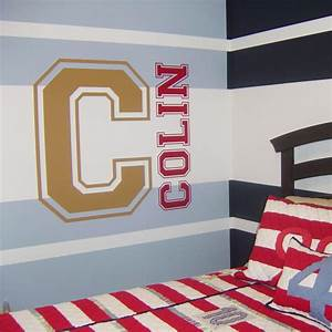 varsity letter and name custom monograms wall decals With custom wall letter stickers