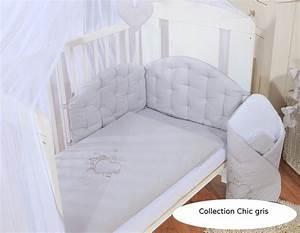 Couette Pour Lit Bébé : housses de couette et d 39 oreiller pour lit 120x60 chic gris ~ Teatrodelosmanantiales.com Idées de Décoration