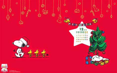 Snoopy December 2014 Wallpaper Calendar