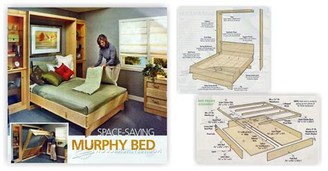 murphy bed plans woodarchivist