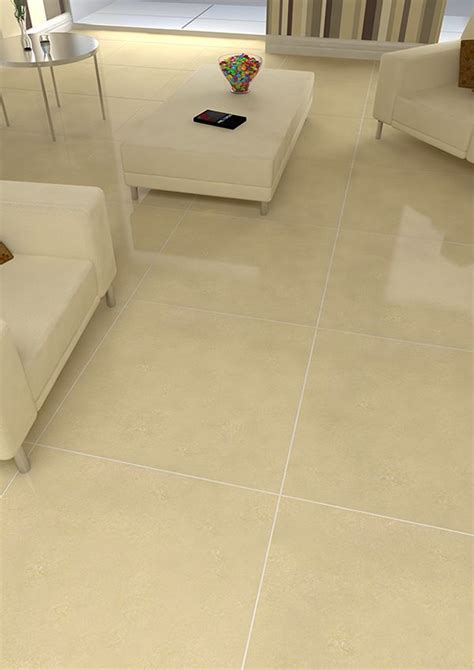 large format tiles provide a spacious feel shown here