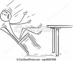 Chaise Qui Se Balance : illustration dessin anim tomber chaise balancer homme balancer illustration dessin ~ Teatrodelosmanantiales.com Idées de Décoration
