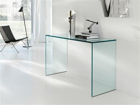 bureau design en verre console en verre 50 idées de décoration d 39 intérieur