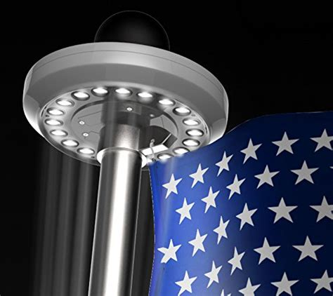 hoont bright led solar powered flag pole light 20 leds