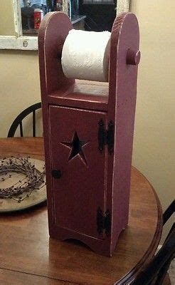 primitive toilet paper holder storage home decor