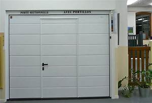 prix porte de garage coulissante motorisee avec portillon With porte de garage enroulable hormann