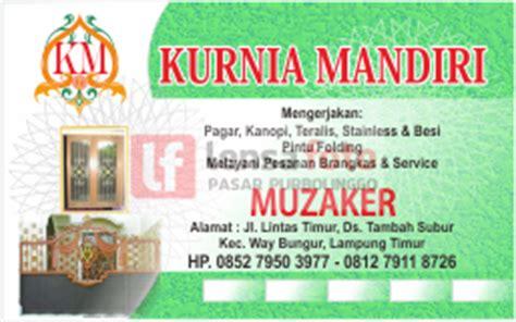 lensa media  mempromosikan usaha  kartu nama