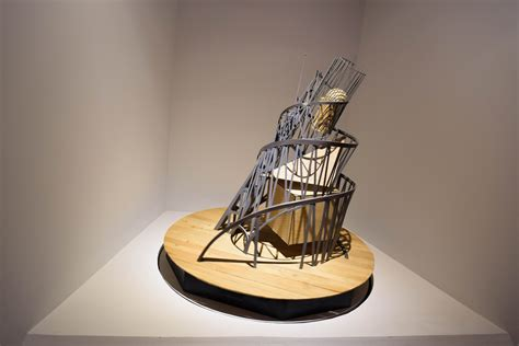 gambar kerja abstrak arsitektur museum patung
