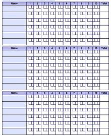 bowling score sheet templates  excel word