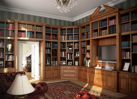 Home Library : Bespoke Bookcases & Rolling
