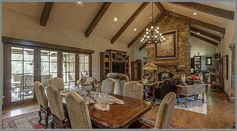 Kitchen Fireplace Ideas - french country great room