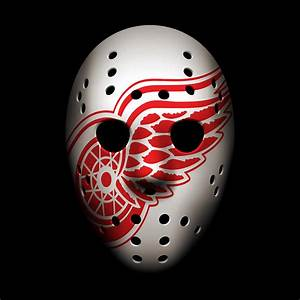 Red Wings Goalie Mask Photograph by Joe Hamilton