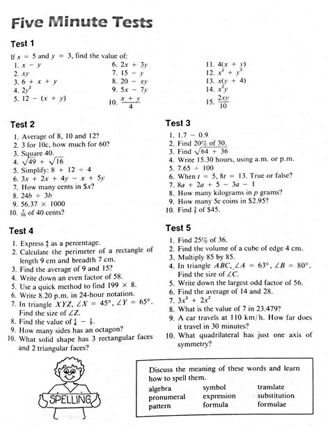 maths worksheets year 8 revision homeshealth info