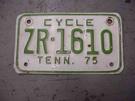 1953 Tennessee Tn License Plate Tag Shaped Like State