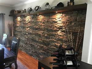 Interior, Stone, Accent, Wall, Ideas, By, Wes