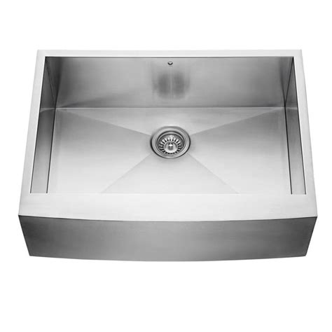 stainless apron front sink shop vigo 30 0 in x 22 25 in single basin stainless steel