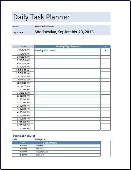 Template For Daily Tasks by 5 Task List Templates Formats Exles In Word Excel