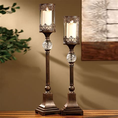 Tall Candle Stands by Chavez Tall Hurricane Candleholder Set