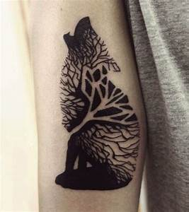 Trees, Tattoos for girls and Wolves on Pinterest