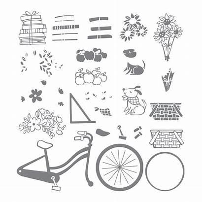 Bike Ride Stampin Stamp Card Stamps Photopolymer