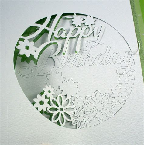 intricate cut floral birthday card   cricut maker
