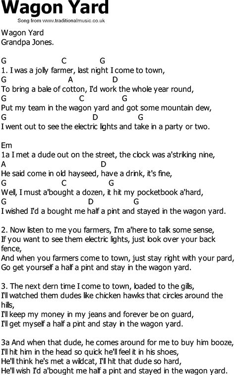 Wagon Wheel Chords And Words